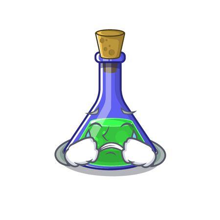 Crying magic potion cartoon shaped in character
