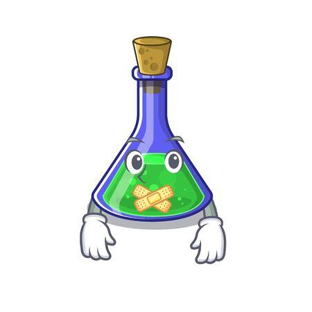 Silent magic potion on the cartoon table