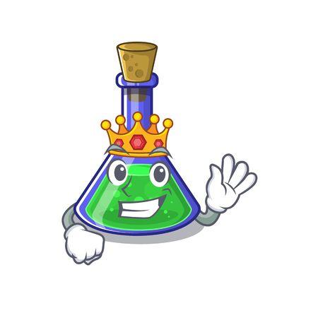 King magic potion on the cartoon table  イラスト・ベクター素材