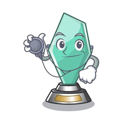 Doctor acrylic trophy cartoon shaped on character