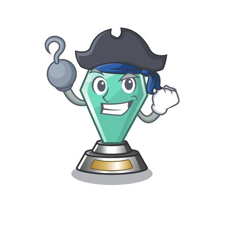 Pirate acrylic trophy cartoon shaped on character