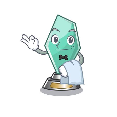 Waiter acrylic trophy mascot on a cartoon Foto de archivo - 129703618