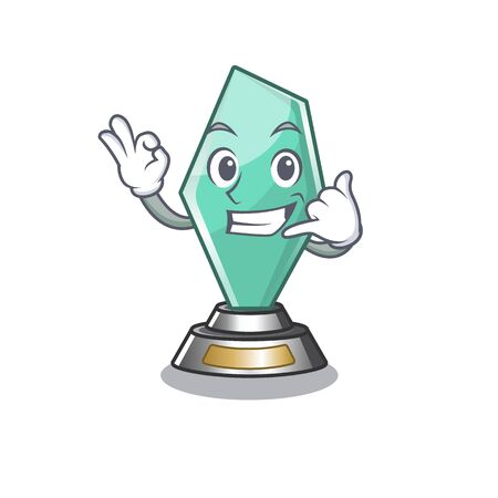 Call me acrylic trophy stored in cartoon drawer