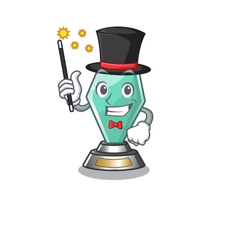 Magician acrylic trophy stored in cartoon drawer