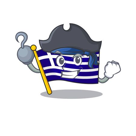 Pirate flag greece isolated in the character