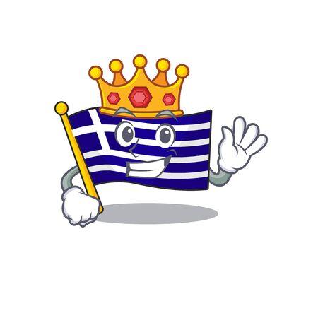 King greece flag placed in cartoon cupboard 写真素材 - 129703848