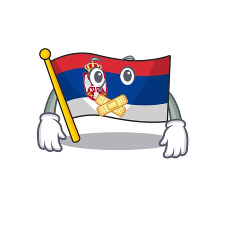 Silent Serbian flags stored in cartoon drawer