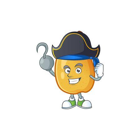 Pirate fragrant pear in cartoon character style vector illustration Illusztráció