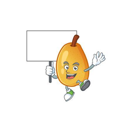 Bring board fragrant pear in cartoon character style vector illustration Illustration
