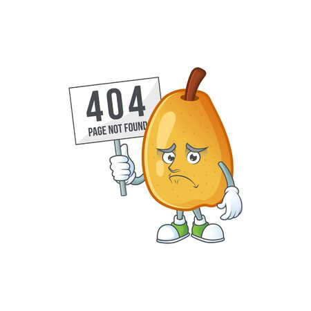 Pouting with bring board fragrant pear in cartoon character style vector illustration