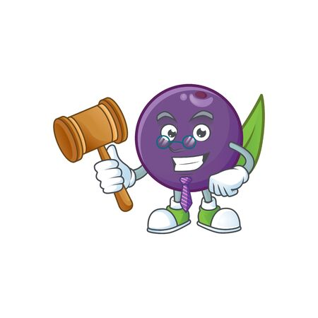 Judge acai berries character for fresh fruit