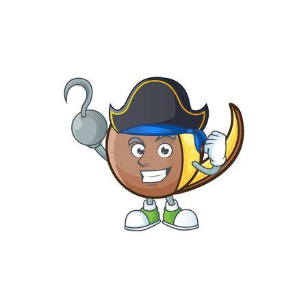 Pirate bambangan fruit cartoon character with mascot