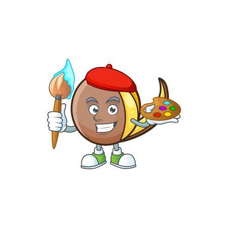 Painter bambangan fruit cartoon character with mascot Иллюстрация