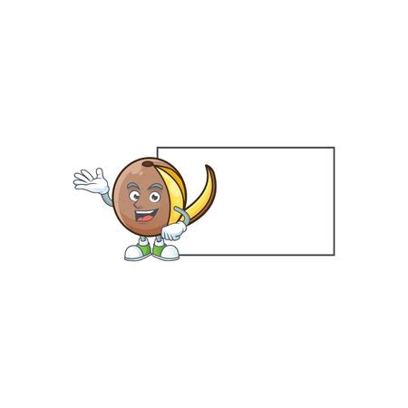 With board bambangan fruit cartoon character with mascot