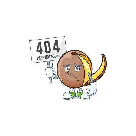 Pouting with bring board bambangan fruit cartoon character with mascot Illustration