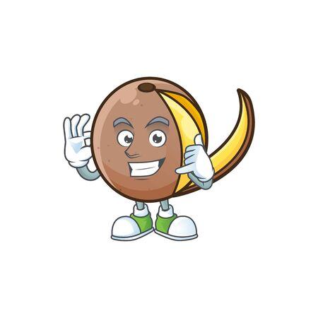 Call me bambangan fruit with concept cartoon character