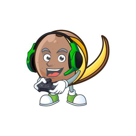 Gaming bambangan fruit cartoon character with mascot