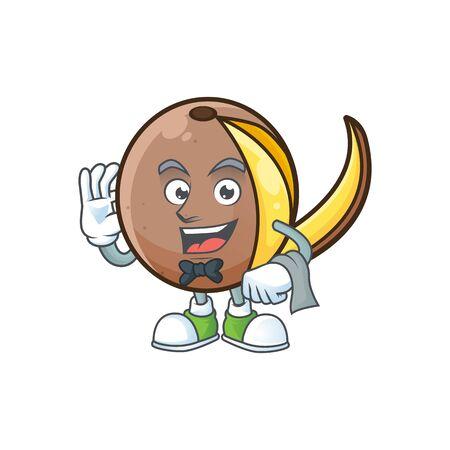 Waiter cute bambangan fruit in cartoon mascot Foto de archivo - 129792118