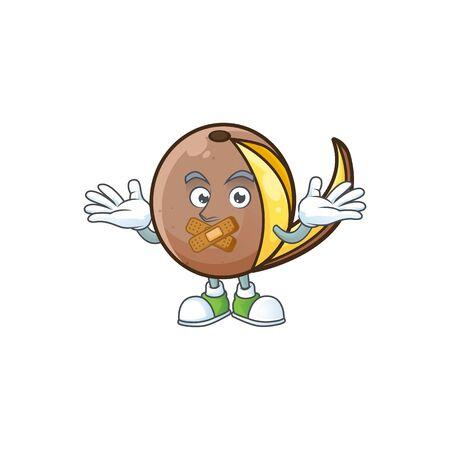 Silent bambangan fruit with concept cartoon character Çizim