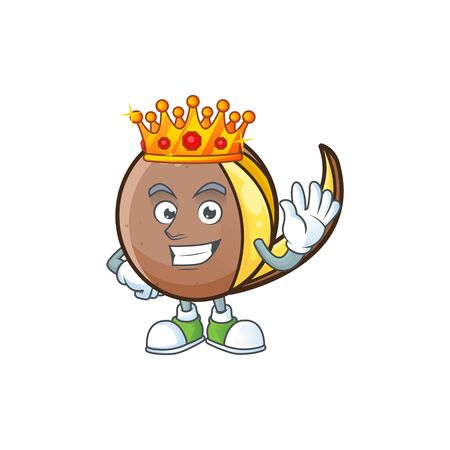 King bambangan fruit with concept cartoon character