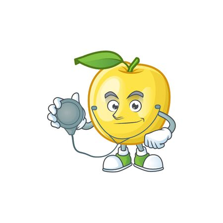 Doctor golden apple with cartoon character style  イラスト・ベクター素材
