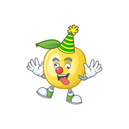 Clown shape golden apple fruits for character mascot Ilustrace
