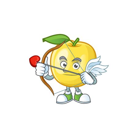 Cupid golden apple with cartoon character style