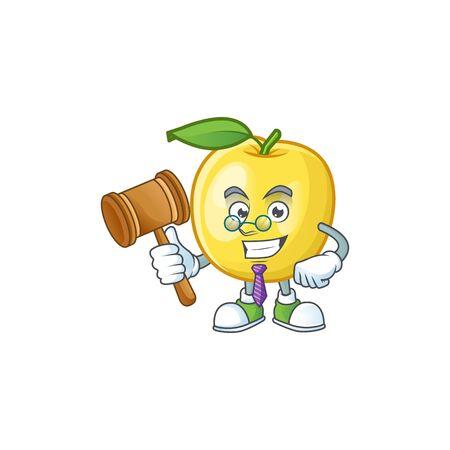 Judge shape golden apple fruits for character mascot