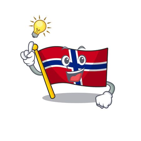 Have an idea norway flag placed in character cupboard vector illustration Ilustrace