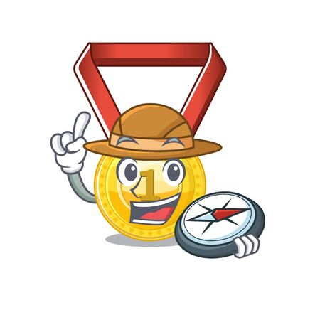 toy gold medal shaped on mascot vector illustration