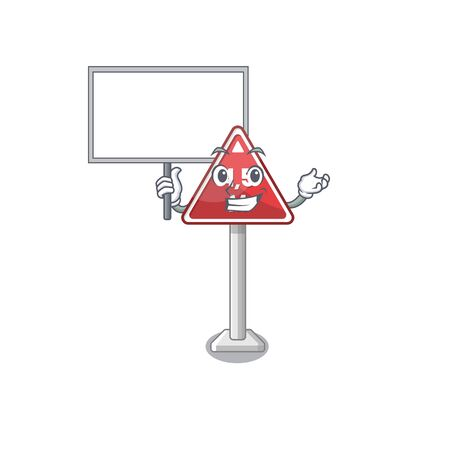 Bring board height limit mascot shaped on character vector illustration
