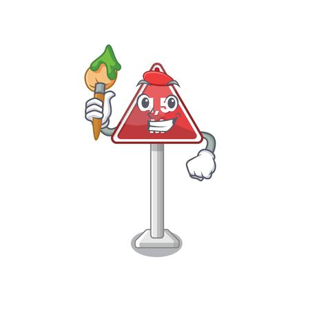Artist height limit mascot shaped on character vector illustration Иллюстрация