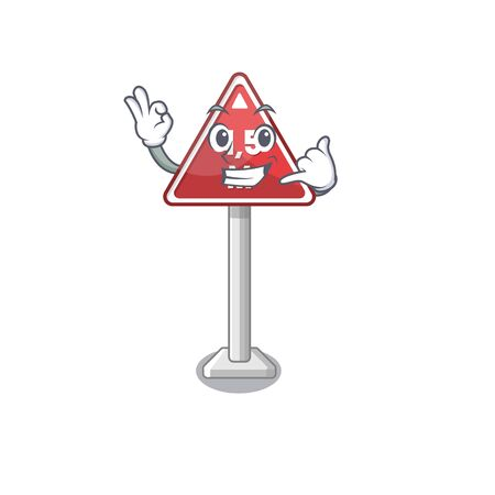 Call me toy height limit above mascot table vector illustration Illustration