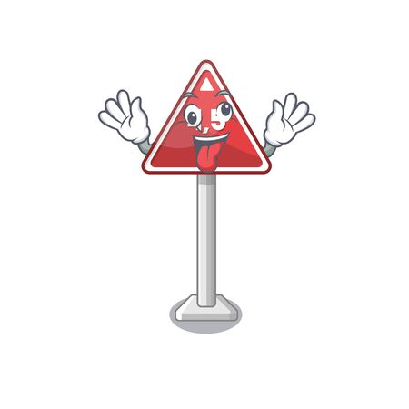 Crazy toy height limit above mascot table vector illustration