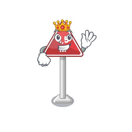King toy height limit above mascot table vector illustration  イラスト・ベクター素材