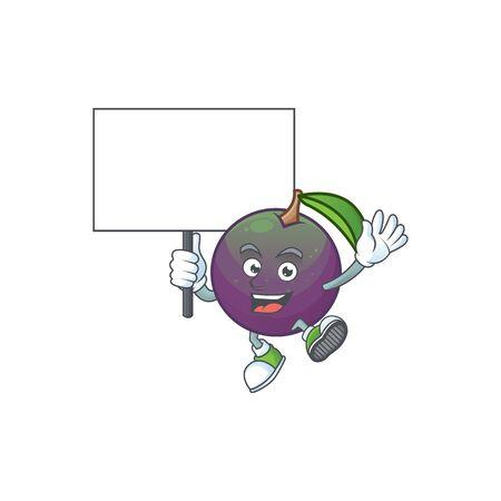 Bring board star apple cartoon character with mascot vector illustration Illustration