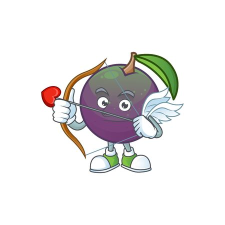 Cupid star apple cartoon character with mascot vector illustration Illusztráció
