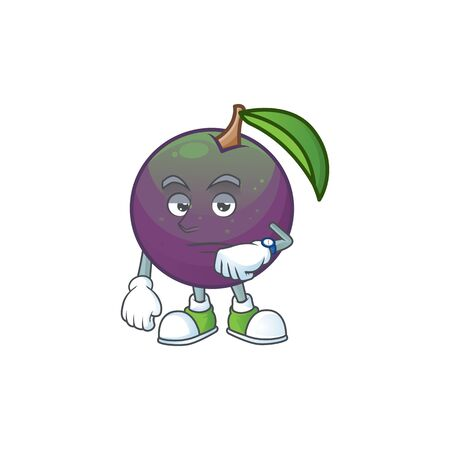 Waiting star apple character in cartoon mascot vector illustration