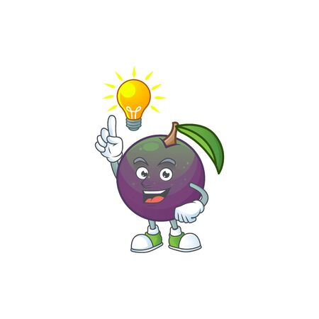 Have an idea star apple character in cartoon mascot vector illustration Ilustração