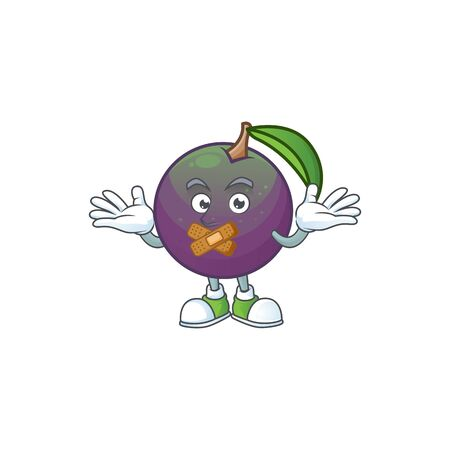 Silent star apple character in cartoon mascot vector illustration Ilustração