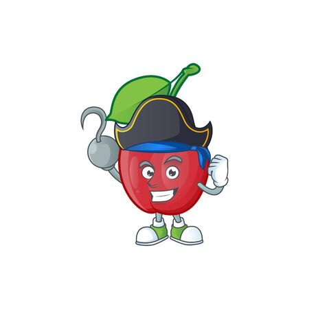 Pirate bing cherries isolated mascot in character vector illustration