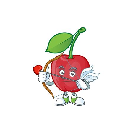 Cupid bing cherries isolated mascot in character vector illustration Illusztráció