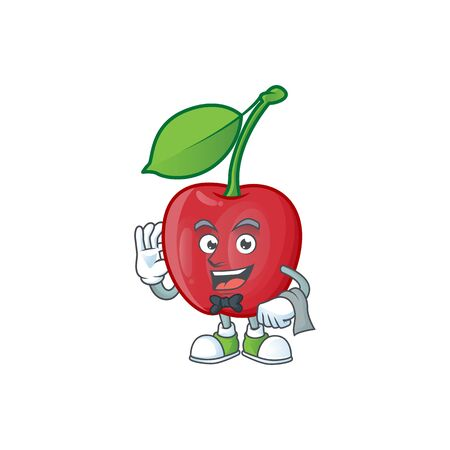 Geek cartoon bing cherries on white background vector illustration Stock Illustratie