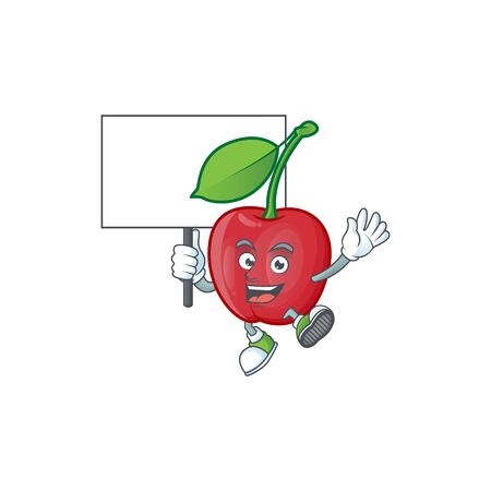 Bring board bing cherries isolated mascot in character vector illustration