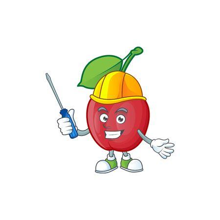 Automotive bing cherries fresh for design character vector illustration Stock Illustratie
