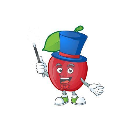 Magician bing cherries fresh for design character vector illustration