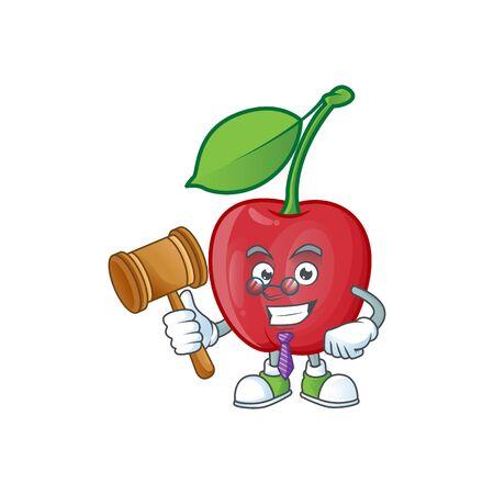 Judge bing cherries fresh for design character vector illustration