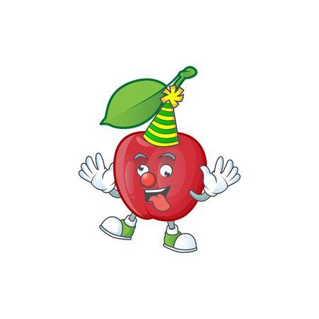 Clown bing cherries fresh for design character vector illustration Stock Illustratie