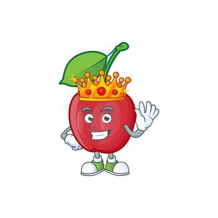 King bing cherries fresh for design character vector illustration