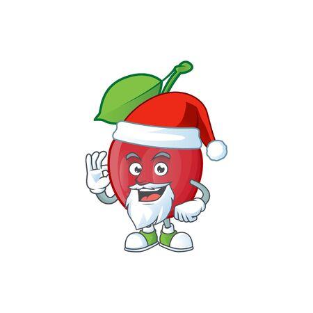 Santa bing cherries fresh for design character vector illustration Stock Illustratie